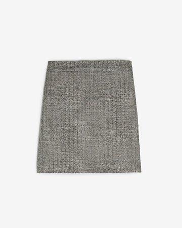 High Waisted Textured Metallic Mini Skirt | Express