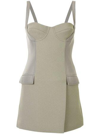 Dion Lee Belted Strap Bustier Mini Dress - Farfetch