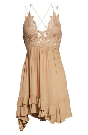 Free People Intimately FP Adella Frilled Chemise Dress | Nordstrom