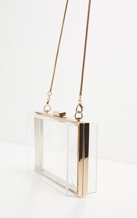 Clear Square Clutch | Accessories | PrettyLittleThing USA
