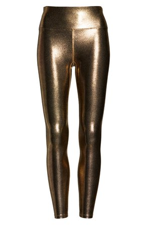 Heroine Sport Metallic High Waist Leggings | Nordstrom
