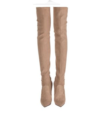 over the knee nude boots
