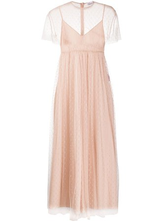 RedValentino Point d'esprit Pleated Tulle Dress - Farfetch
