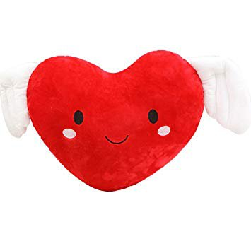 TOYMYTOY Cute Heart-shaped Pillow with Wings Soft Nap Throw Pillow Cushion for Valentine Birthday Christmas Gifts (Red), Plush Pillows - Amazon Canada