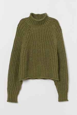 H&M turtleneck olive green
