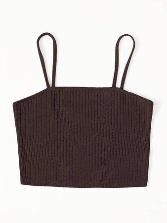 Rib-knit Cami Top | SHEIN USA