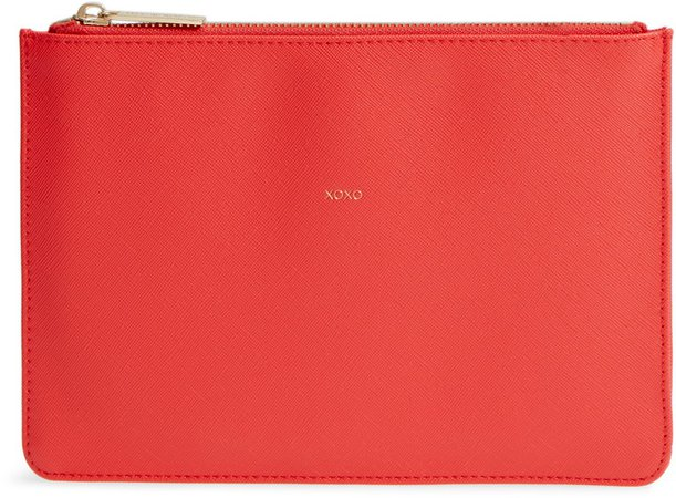 XOXO Medium Faux Leather Pouch