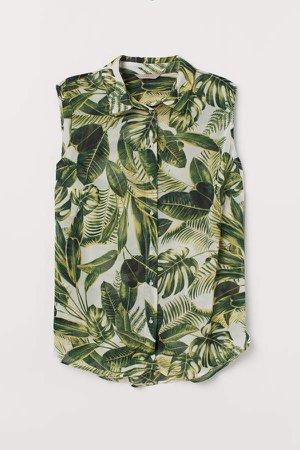 H&M+ Sleeveless Blouse - Green