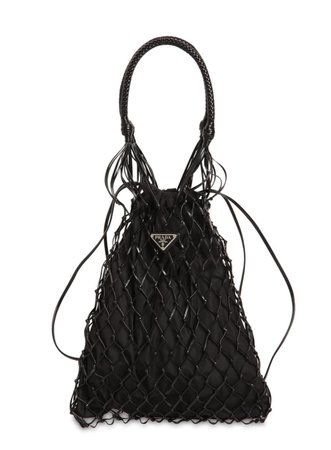 Prada Leather Crochet Mesh Bag