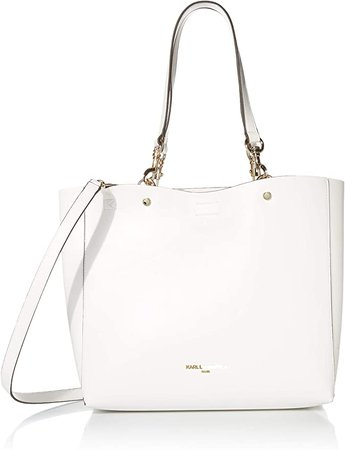 Amazon.com: Karl Lagerfeld Paris Adele Tote & Pouch, Winter White: Clothing