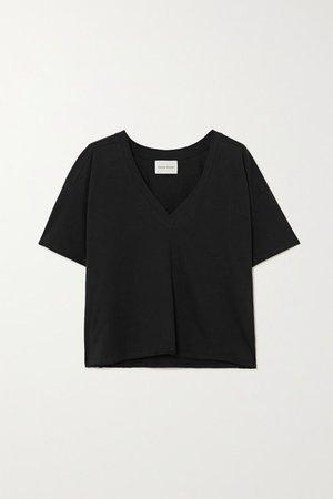 Faaa Supima Cotton-jersey T-shirt - Black
