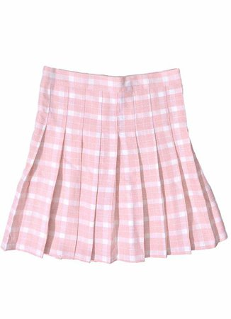 Peach & White Plaid Skirt – In Control Clothing
