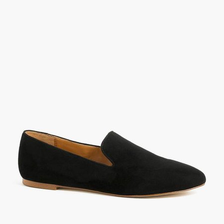 Suede smoking loafers