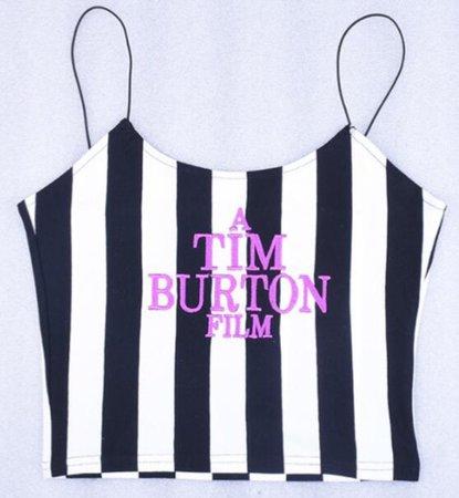 tim burton cropped tank