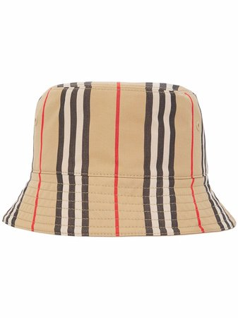 Burberry Icon Stripe Bucket Hat - Farfetch