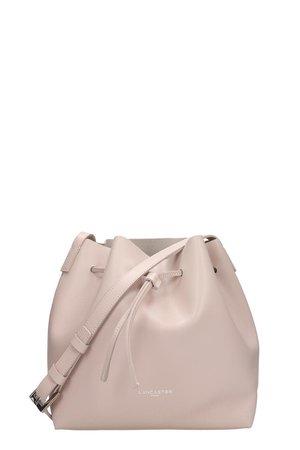 Lancaster Paris Pink Leather Small Bucket Bag