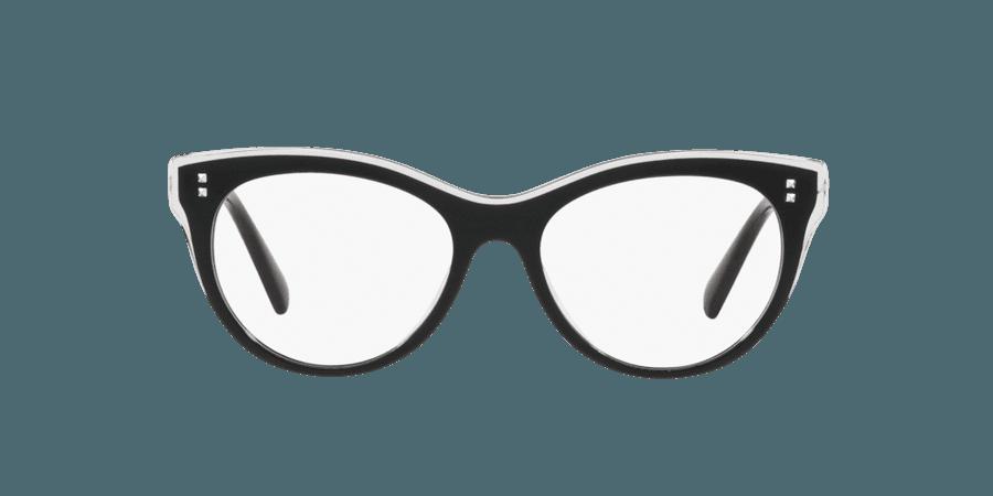 Valentino Black Oval Eyeglasses at LensCrafters