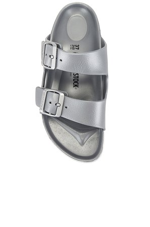 BIRKENSTOCK Arizona Eva Sandal in Metallic Silver | REVOLVE