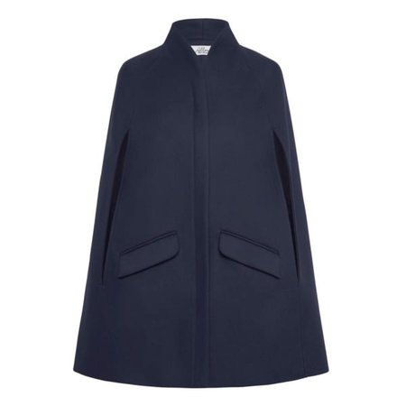 Chelsea Wool Cashmere Cape Navy   Allora   Wolf & Badger