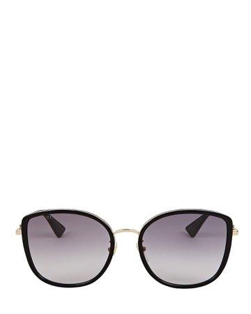 Gucci Oversized Rounded Cat Eye Sunglasses | INTERMIX®
