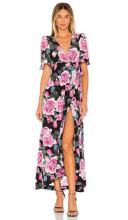 Selkie The Upper East Dress in Rose Print | REVOLVE