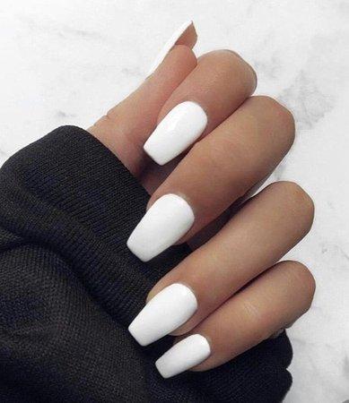 White shirt nails