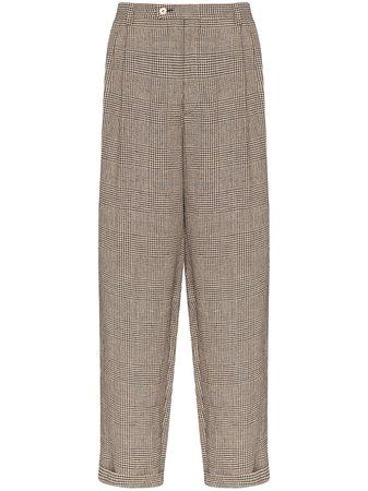 Gucci check-print Trousers - Farfetch