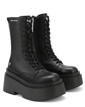 *clipped by @luci-her* Naked Wolfe Black Leather Boots