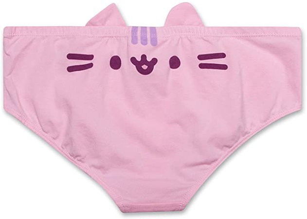 Pusheen The Cat Womens Underwear Sexy Panties for Women with Cute 3D Cat Ears 3-Pack (Pink, Size XL) at Amazon Women's Clothing store