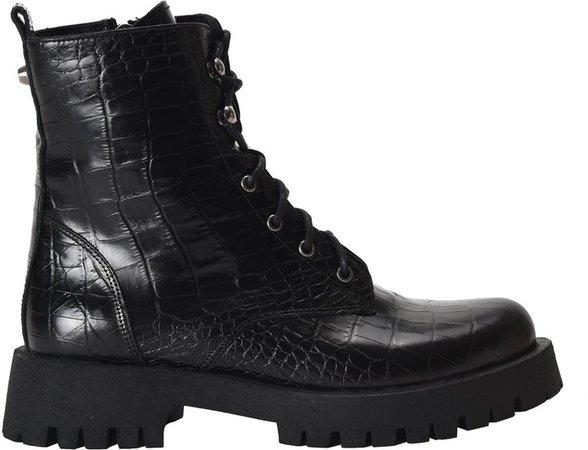 Calisa Combat Lug Sole Boots