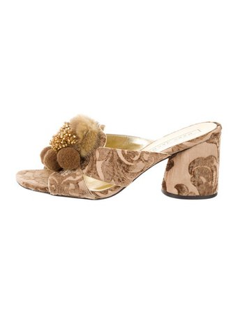 Marc Jacobs Embellished Slide Sandals - Shoes - MAR73599 | The RealReal