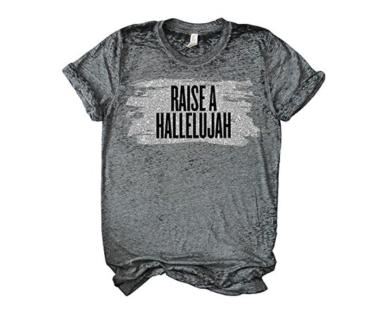 Raise a Hallelujah Vintage Tee | T Shirt | Christian Shirt | Christian Apparel for Women at Amazon Women's Clothing store