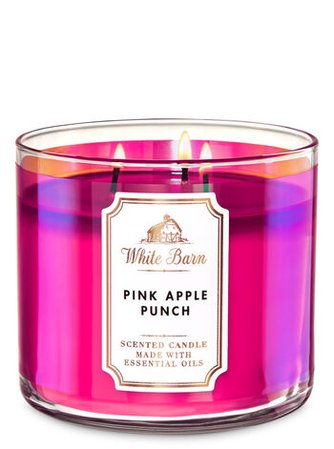 Pink Apple Punch 3-Wick Candle - White Barn | Bath & Body Works