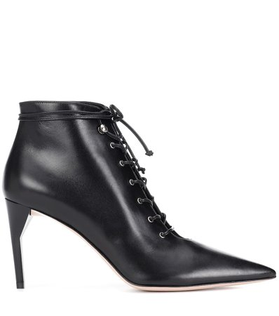 Leather Ankle Boots - Miu Miu | mytheresa.com