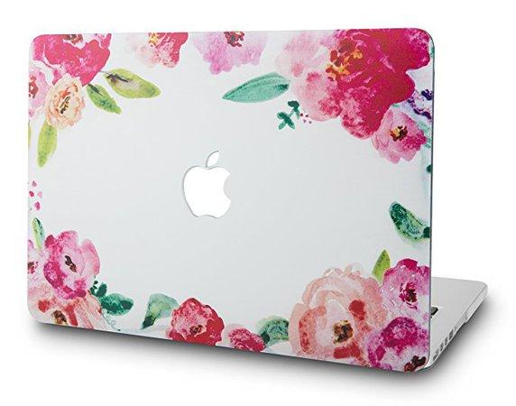 KEC MacBook Air 13 Inch Case Plastic Hard Shell Cover A1369/A1466 (Flower 6)