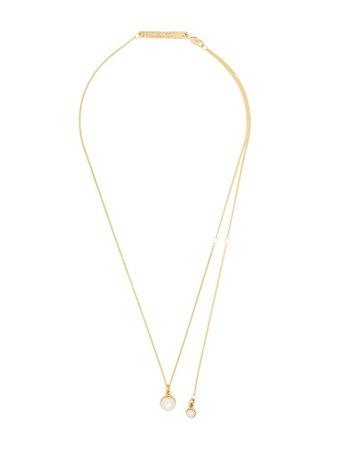 Cornelia Webb 24Kt Gold Plated Pearl Drop Necklace Ss20 | Farfetch.com