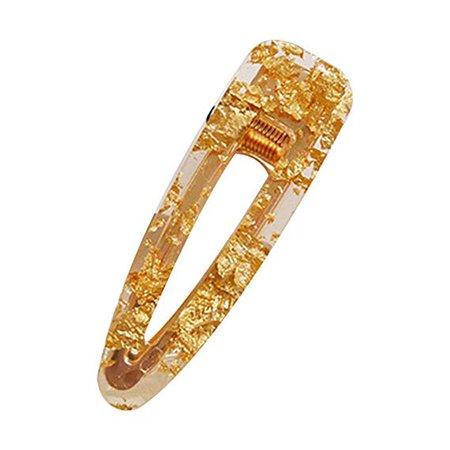 Gold foiled barrette