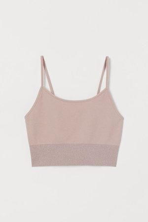Seamless Sports Bralette - Powder pink - Ladies | H&M CA
