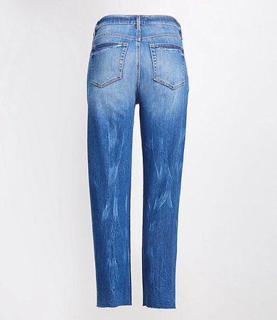 Tall High Rise Straight Crop Jeans in Dark Indigo