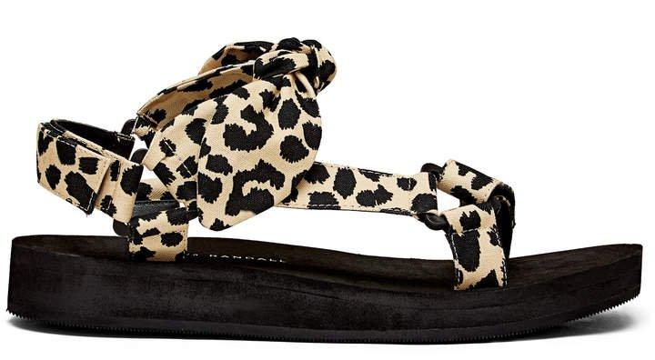 Loeffler Randall Maisie Leopard Sporty Sandals