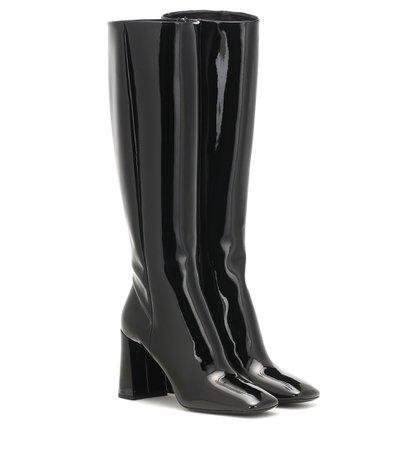Knee-High Patent Leather Boots - Prada | Mytheresa