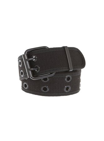 Two-Row Black Grommet Belt