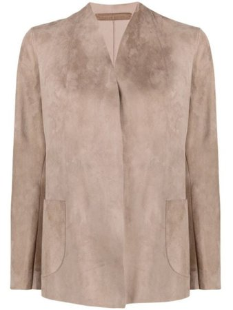 Salvatore Santoro suede wrap jacket 40011D - Farfetch