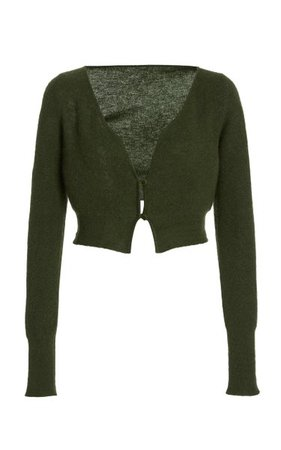 Alzou Cropped Mohair-Blend Cardigan By Jacquemus | Moda Operandi