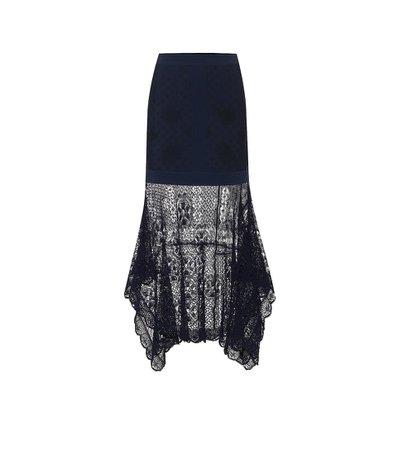 Alexander McQueen - High-rise knit skirt | Mytheresa