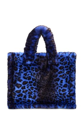 Lola Large Leopard-Print Faux-Fur Tote by Stand Studio | Moda Operandi