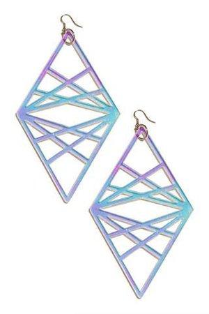 Holographic Goddess Eye Earrings