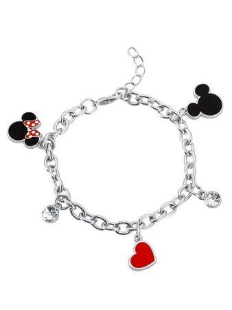 Disney Mickey and Minnie Mouse Charm Bracelet
