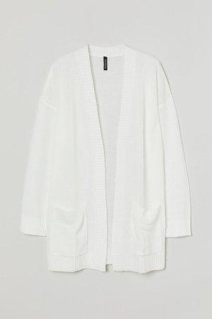 Knit Cardigan - White
