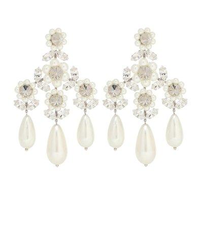 Embellished Faux-Pearl Earrings | Simone Rocha - Mytheresa